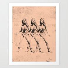 Raquel Welch in Triplicate Art Print