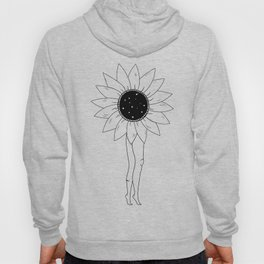 Flower Child Line Minimal Drawing Hoody
