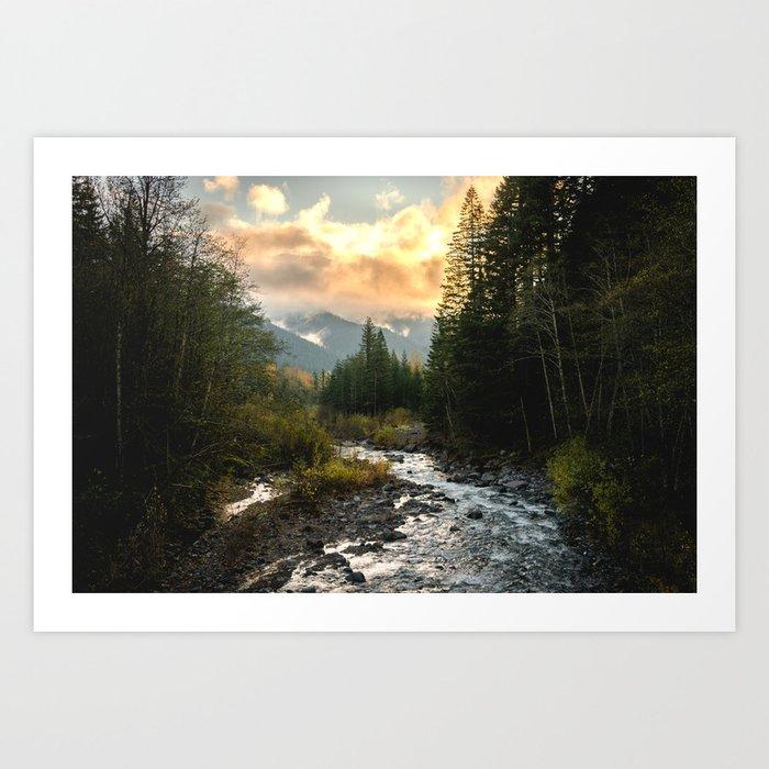 The Sandy River I - nature photography Kunstdrucke