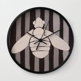 Halloween Bee with Stripes Wall Clock