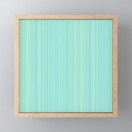 Aqua Green Purple Fine Lines Framed Mini Art Print