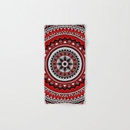 Red and Black Mandala Hand & Bath Towel