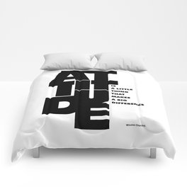 Lab No. 4 - Life Inspirational Quotes Of Attitude Inspirational Quotes Poster Comforters