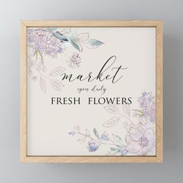 fresh flower market Framed Mini Art Print