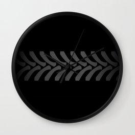 Black Tyre Marks Wall Clock