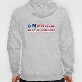 AMERICA FUCK YEAH writing with USA flag Hoody