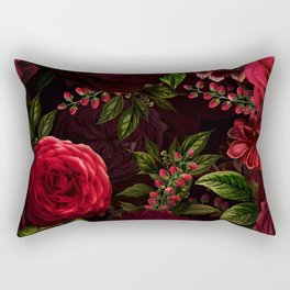 Mystical Night Roses Rectangular Pillow