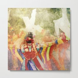 "culture Photography ""KOREAN DANCER""  tradition Corea korea asian hanbok dress dancer musician Metal Print"