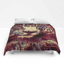 Jaguar Violet Red Comforters