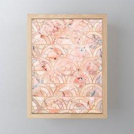 Peachy Marble (foor) Framed Mini Art Print
