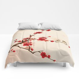 Oriental plum blossom in spring 007 Comforters