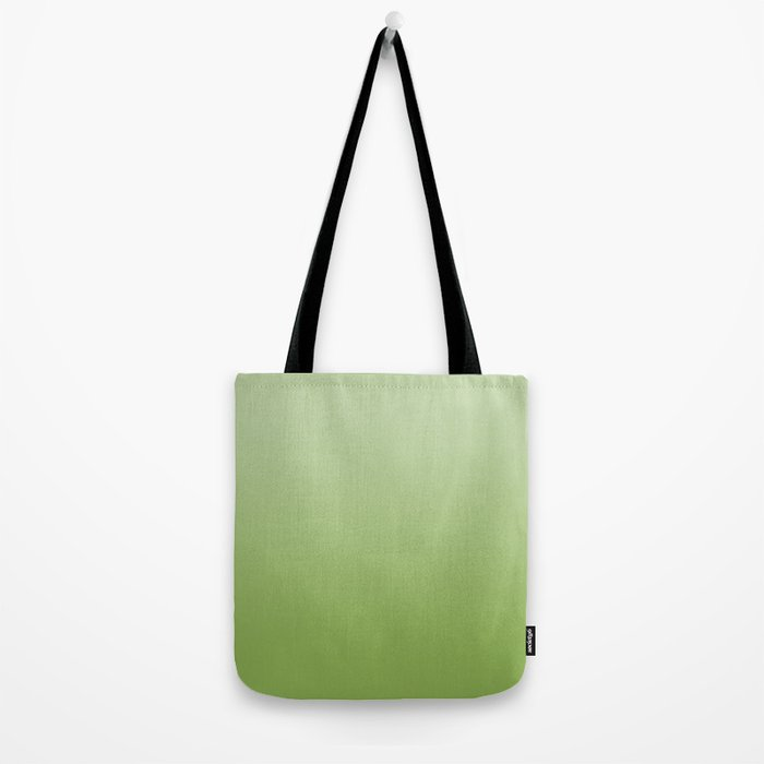 Ombre Greenery Tote Bag