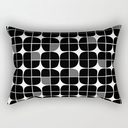 Monochrome circle pattern Rectangular Pillow