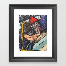 Triangle Man Says Hi  Framed Art Print