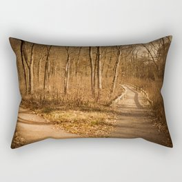 The Path Less Traveled Rectangular Pillow
