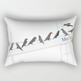 MUNIN - WHITE Rectangular Pillow