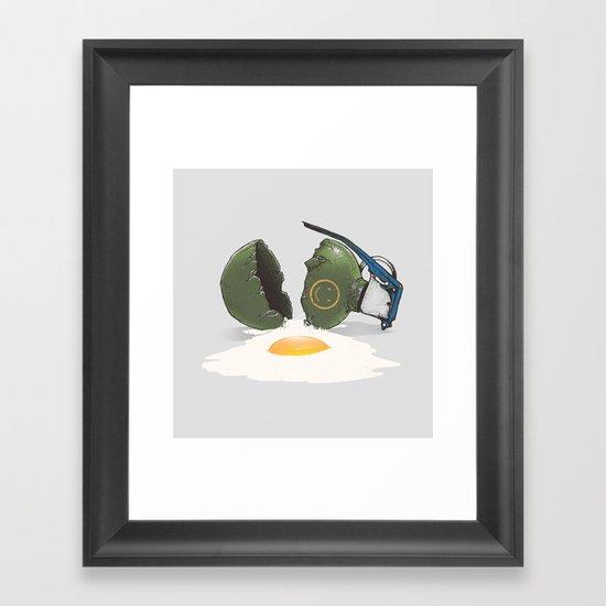 Eggsplosion Framed Art Print