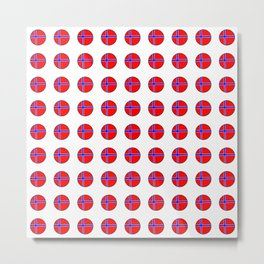 flag of norway 13 – polka dot version Metal Print
