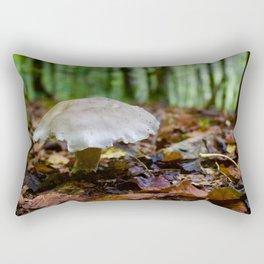 Mushroom In Forest Rectangular Pillow