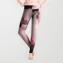 Light Pink Snapdragons Abstract Flowers Leggings