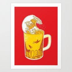 Beer Wave Art Print