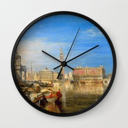"J.M.W. Turner ""Bridge of Sighs, Ducal Palace and Custom-House, Venice"" Wall Clock"