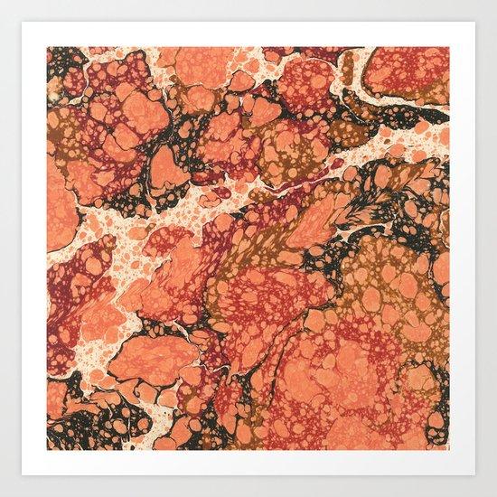 Marble Pink Square # 1 Art Print