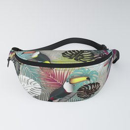 Tropical Birds (Color 2 - Bold) Fanny Pack