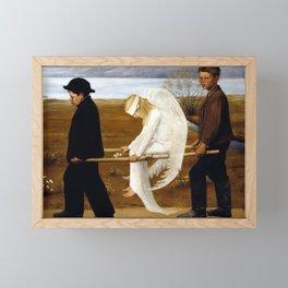 Hugo Simerg The Wounded Angel Framed Mini Art Print