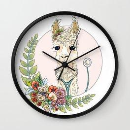 Healthcare Llama Wall Clock