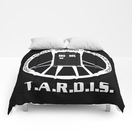 Agents of TARDIS black and white Agents of Shield, Doctor Who mash up Comforters