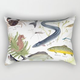The River Thames Rectangular Pillow