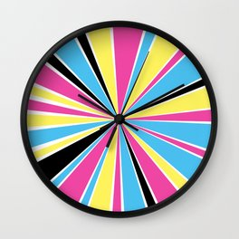 CMYK Star Burst Wall Clock