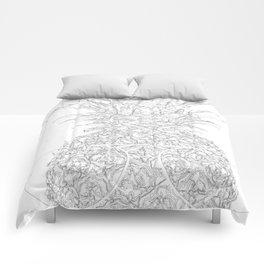 pineapple sophistication Comforters