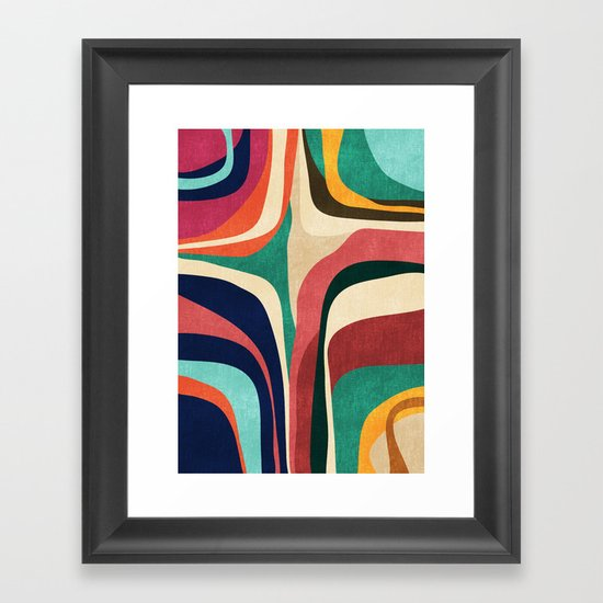 Impossible contour map Framed Art Print