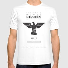 House Atreides White LARGE Mens Fitted Tee