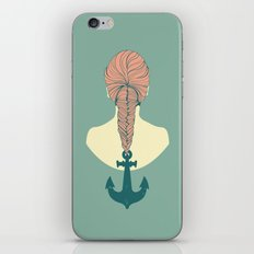 Fish and Anchor iPhone & iPod Skin