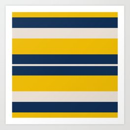 Pearl Corn Zodiac Stripes Art Print