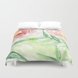 Abstract Tropical Pattern I Duvet Cover