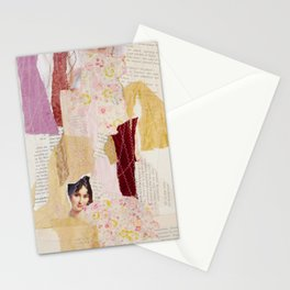 girl without wolf Stationery Cards