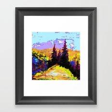 Decorative Abstract Blue Purple Landscape Art Framed Art Print
