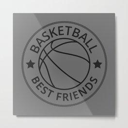 Basketball Best Friends I Metal Print