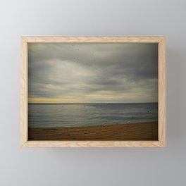Barcelona beach Framed Mini Art Print