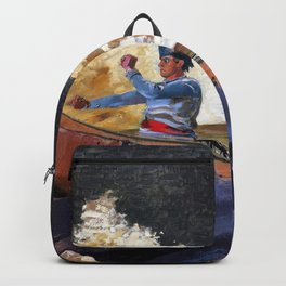 Winslow Homer1 - Shooting The Rapids, Saguenay River - Digital Remastered Edition Backpack
