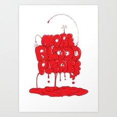 More Blood Please Art Print