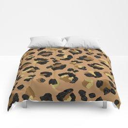 Leopard Print – Neutral & Gold Palette Comforters