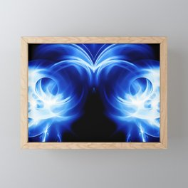 abstract fractals mirrored reacc80c82 Framed Mini Art Print