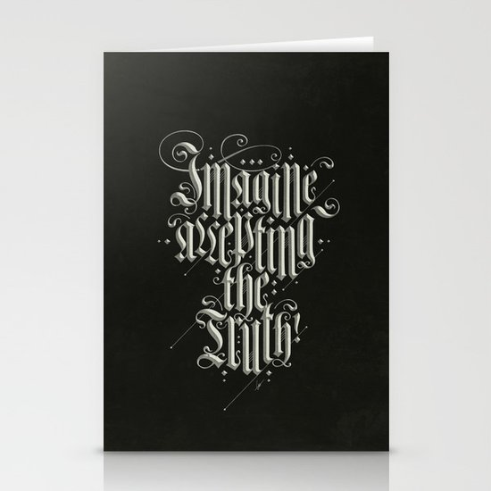 Imagine Accepting The Truth! Stationery Cards