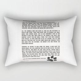 Rainbow Bridge Poem #inspirational #pet #love Rectangular Pillow