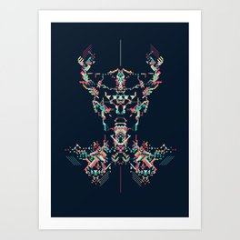 Space Viking Art Print